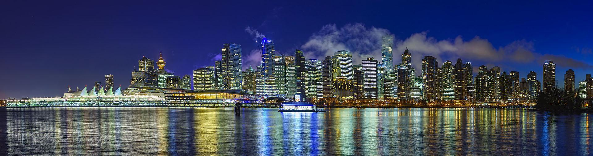 Vancouver Night Skyline VN232A1