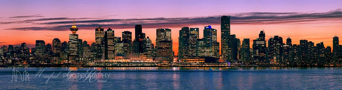 Vancouver Skyline Sunset VS062A