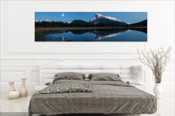 Mt Rundle Moon Night Room View