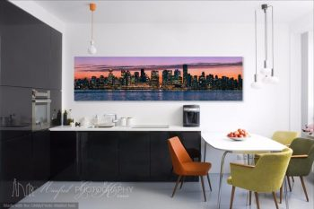 Vancouver Skyline Sunset VS062A Room View