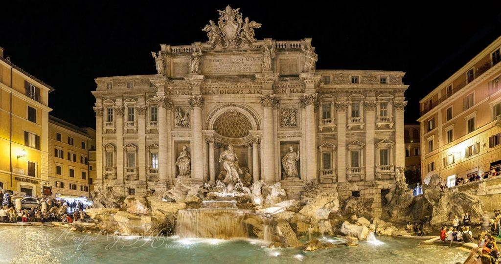Trevi Fountain Night