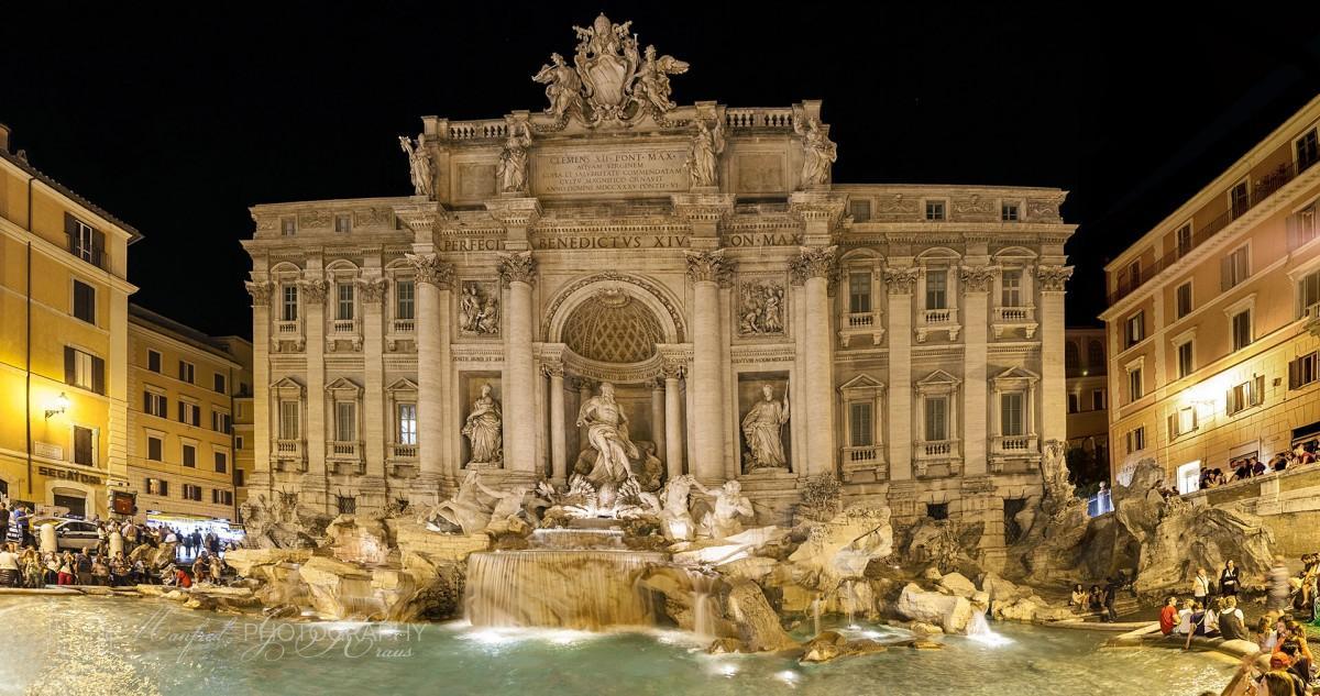 Trevi Fountain Night TF231A