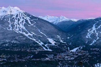 Whistler Blackcomb Valley Dusk WB076A