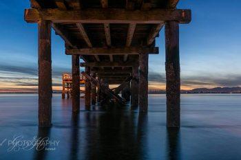 Crescent Beach Dusk Pano CB372A