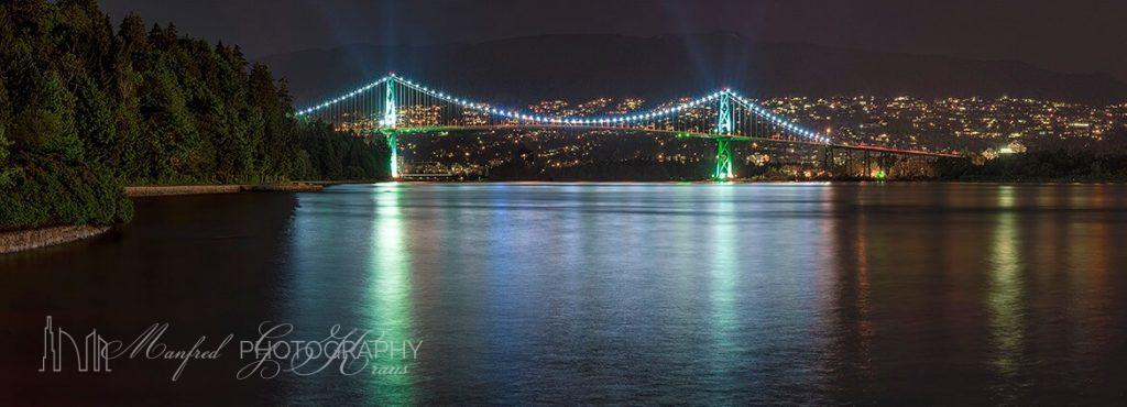 Lions Gate Bridge Night