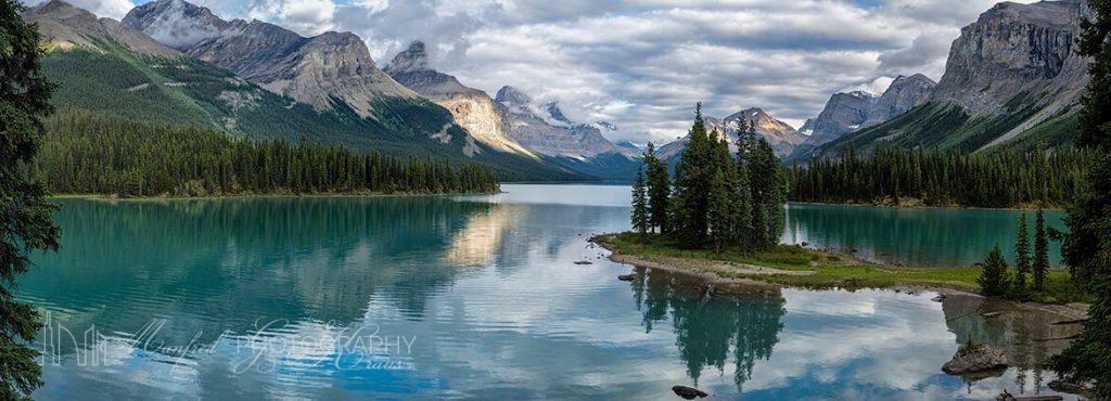 Maligne Lake Mirrored
