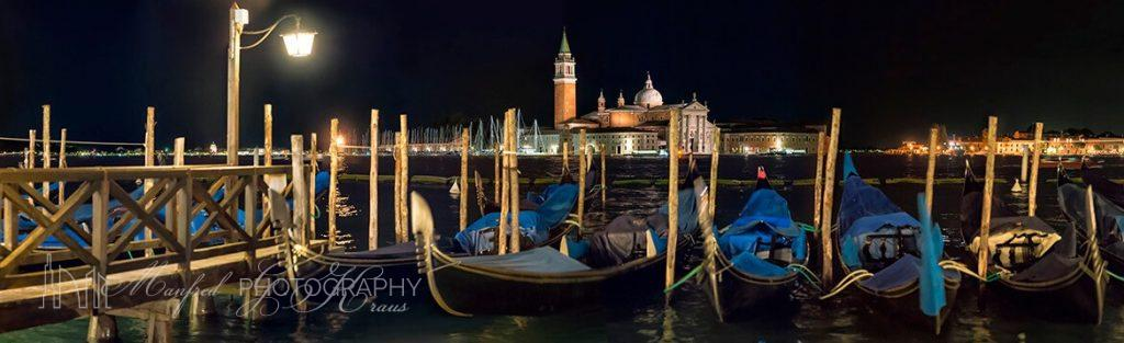 San Marco Gondolas Night