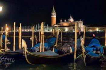 San Marco Gondolas Night 338A
