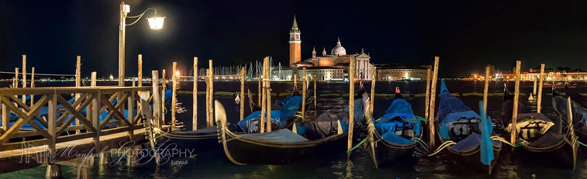 San Marco Gondolas Night 338A