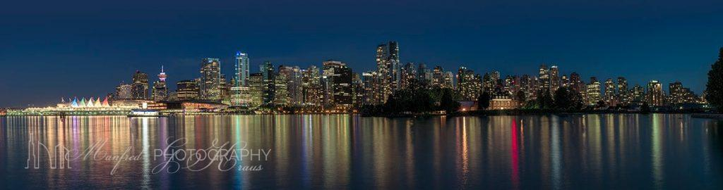 Vancouver Skyline Night 2017