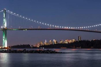 Lions Gate Bridge Night LB377A