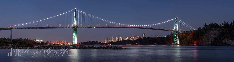 Lions Gate Bridge Night LB377A